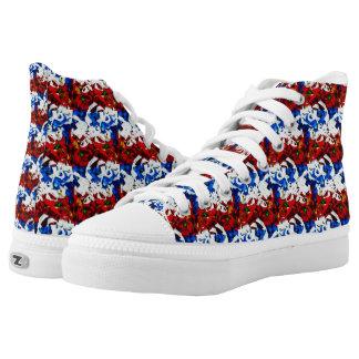 Patriot-Streifen Hoch-geschnittene Sneaker