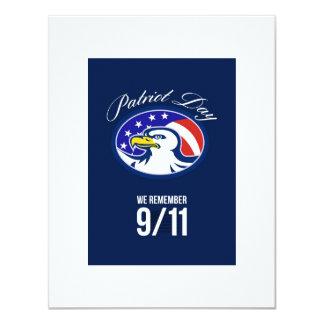 Patriot-Tag erinnern uns wir an die 911 10,8 X 14 Cm Einladungskarte