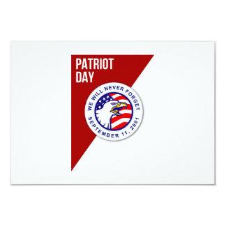 Patriot-Tag vergessen wir nie am 11. September 8,9 X 12,7 Cm Einladungskarte