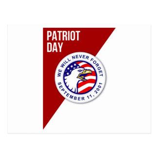 Patriot-Tag vergessen wir nie am 11. September Postkarten