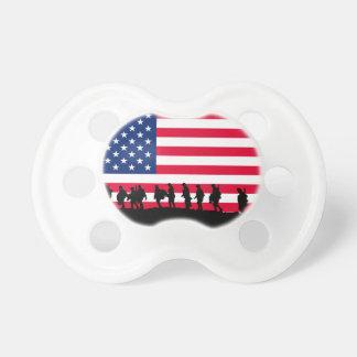 Patriot USA-Soldatflaggenmotiv Baby Schnuller