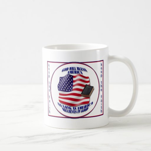 Patriotic-GodBlessAmerica.png Kaffee Tasse