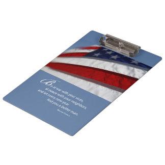 Patriotisch, amerikanische Flagge Klemmbrett