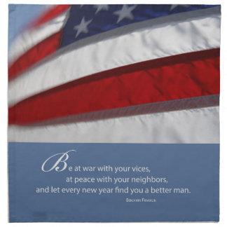 Patriotisch, amerikanische Flagge Serviette
