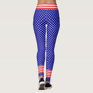 Patriotisch im roten, weißen und blauen US Flagge Leggings