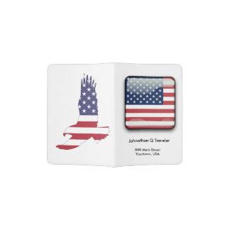 Patriotisch, Sterne u. Streifen-Pass-Abdeckung Passhülle