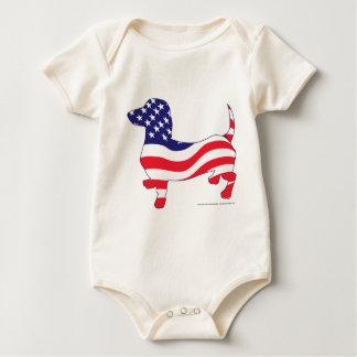 Patriotisch-Weiner Baby Strampler