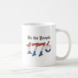 Patriotisch wir die Leute 1776 Kaffeetasse