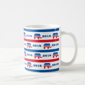 Patriotische 2020 republikanische Elefant-Streifen Tasse