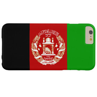 Patriotische afghanische Flagge Barely There iPhone 6 Plus Hülle