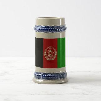 Patriotische afghanische Flagge Bierglas