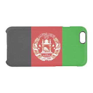 Patriotische afghanische Flagge Durchsichtige iPhone 6/6S Hülle