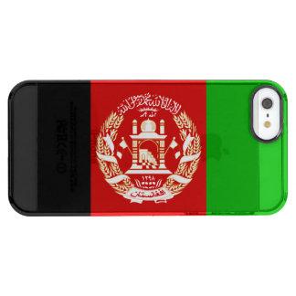 Patriotische afghanische Flagge Durchsichtige iPhone SE/5/5s Hülle