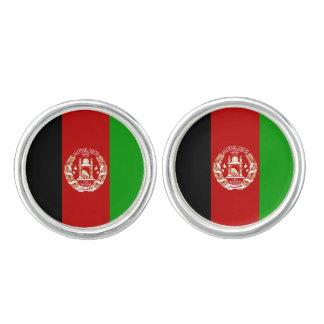 Patriotische afghanische Flagge Manschettenknöpfe