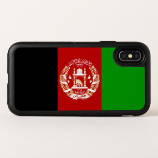 Patriotische afghanische Flagge OtterBox Symmetry iPhone X Hülle