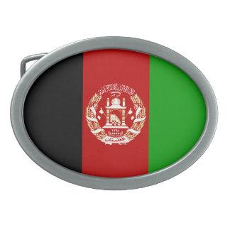 Patriotische afghanische Flagge Ovale Gürtelschnalle