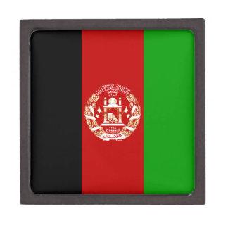 Patriotische afghanische Flagge Schmuckkiste