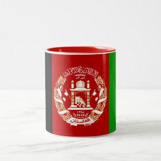 Patriotische afghanische Flagge Zweifarbige Tasse