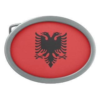 Patriotische albanische Flagge Ovale Gürtelschnalle