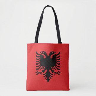 Patriotische albanische Flagge Tasche