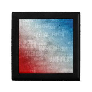 Patriotische Amerika-Text-Grafik Geschenkbox