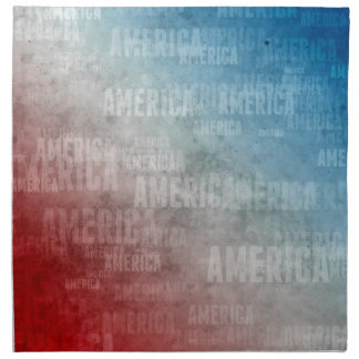 Patriotische Amerika-Text-Grafik Stoffserviette