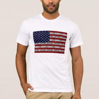 Patriotische Amerikaner USA-Flagge von Vereinigten T-Shirt