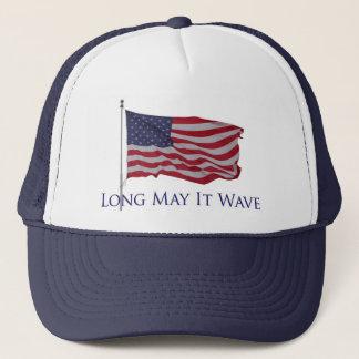 patriotische amerikanische Flagge   kann es lang Truckerkappe