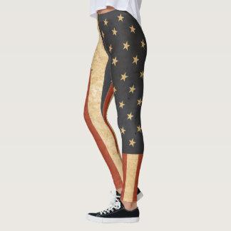 Patriotische amerikanische Flagge Legging Leggings
