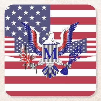 Patriotische amerikanische Flagge Rechteckiger Pappuntersetzer