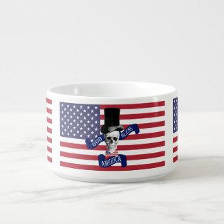 Patriotische amerikanische Flagge Schüssel