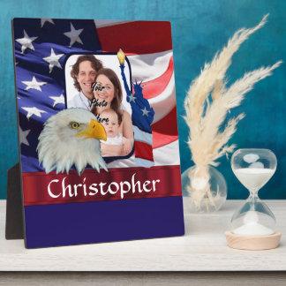 Patriotische amerikanische Ikonen-Fotoschablone Fotoplatte