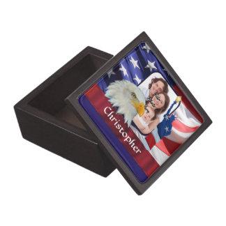 Patriotische amerikanische Ikonen-Fotoschablone Kiste