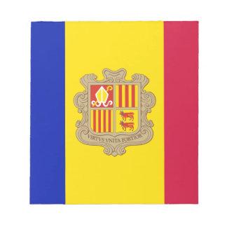 Patriotische Andorra-Flagge Notizblock