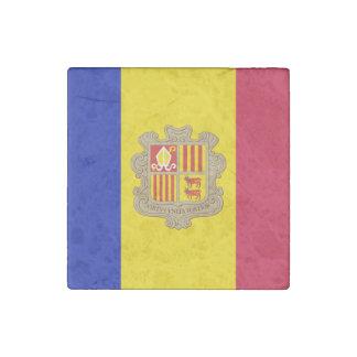 Patriotische Andorra-Flagge Steinmagnet