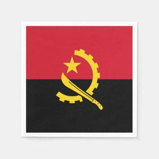 Patriotische angolanische Flagge Serviette