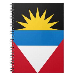 Patriotische Antigua und Barbuda-Flagge Spiral Notizblock