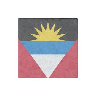 Patriotische Antigua und Barbuda-Flagge Steinmagnet