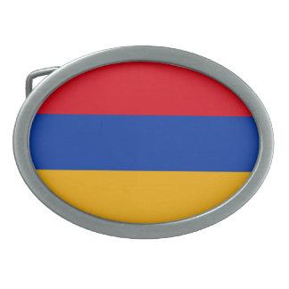 Patriotische Armenien-Flagge Ovale Gürtelschnalle