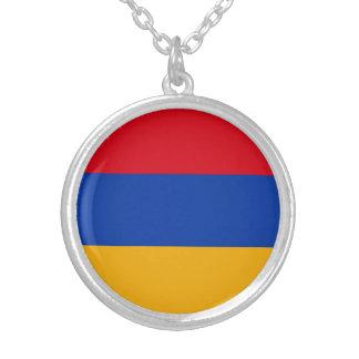 Patriotische Armenien-Flagge Versilberte Kette