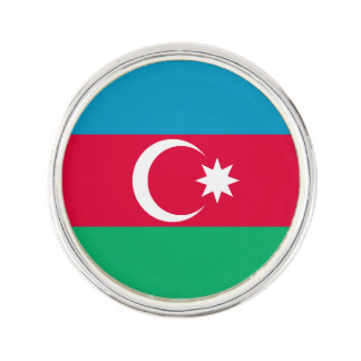 Patriotische Aserbaidschan-Flagge Anstecknadel