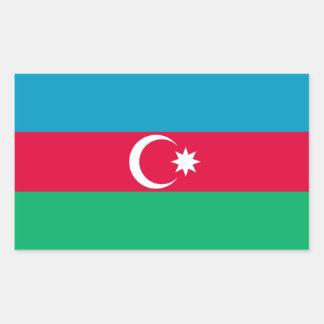 Patriotische Aserbaidschan-Flagge Rechteckiger Aufkleber