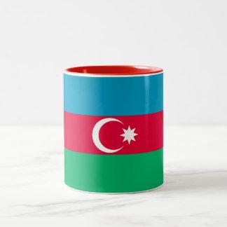 Patriotische Aserbaidschan-Flagge Zweifarbige Tasse