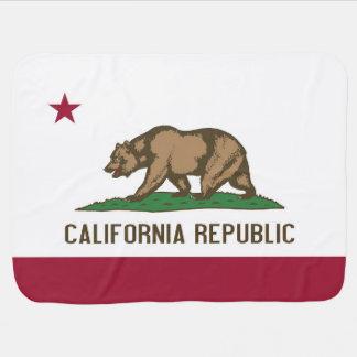 Patriotische Babydecke mit Flagge von Kalifornien