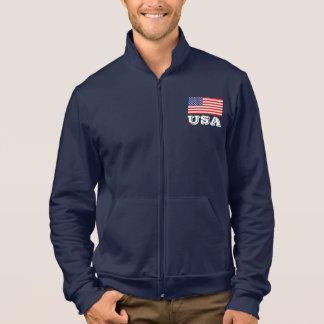 Patriotische Bahnjacke mit amerikanischer Flagge | Jacke