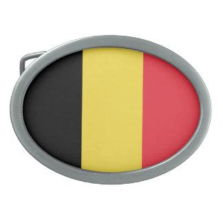 Patriotische belgische Flagge Ovale Gürtelschnalle