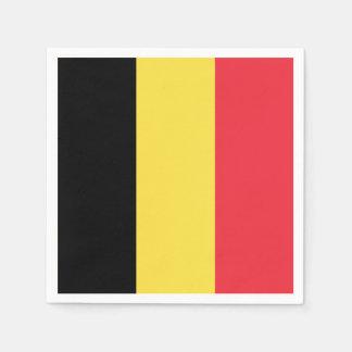 Patriotische belgische Flagge Papierserviette