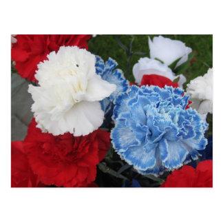 patriotische Blumen Postkarte