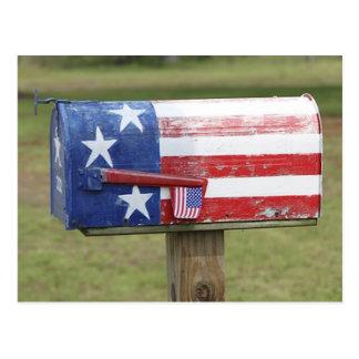 Patriotische Briefkasten-Postkarte Postkarte