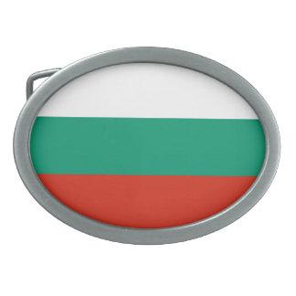 Patriotische bulgarische Flagge Ovale Gürtelschnalle